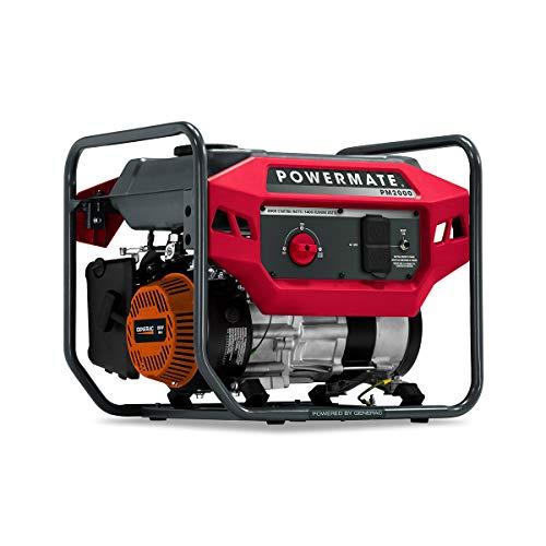 Powermate PM2000 49ST/CSA P0080900 Gas Generator 2000 Watt 49 ST, Red, Black