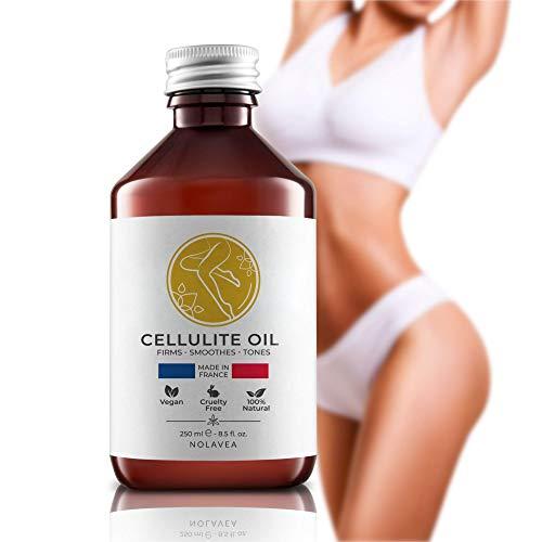 Nolavea - Aceite Masajeador Anticelulitico 100% Natural - Aceite Anticelulitico reductor 250 ml - Aceite de Masaje Vegano, Eficaz y de Larga Duración