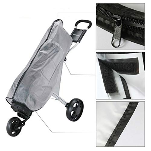 Cheng Yi Golf Bag Rain Cover,Waterproof PVC Rain Cover for Golf Bag,Golf Bag Rain Protection Cover with Hood for Golf Push Carts.Anti UV,Anti-Static,All Weather Protection CYFC1422