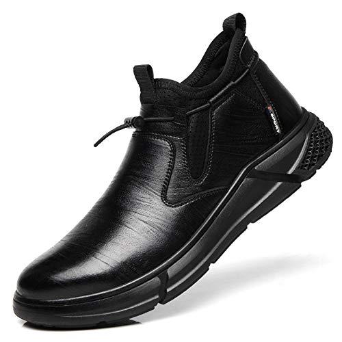 Dxyap Zapatos de Seguridad Hombre Mujer, S1 SRC Punta de Acero Zapatos Ligero Zapatos de Trabajo Respirable Construcción Zapatos Botas de Seguridad,Negro,42EU