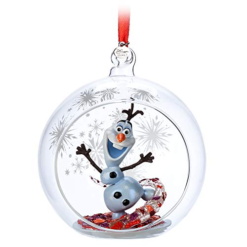 Disney Olaf Glass Globe Sketchbook Ornament – Frozen II