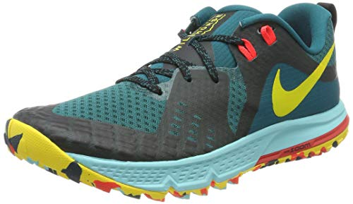Nike Damen Air Zoom Wildhorse 5 Laufschuhe, Türkis (Geode Teal/Chrome Yellow-Black 301), 39 EU
