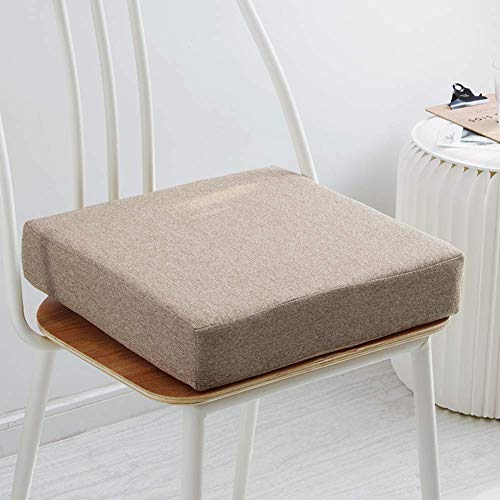 Zagęścić Podkładki Na Krzesła Z Gąbki, Japońska Kwadratowa Poduszka Na Siedzisko Jednolity Kolor Podwyższająca Poduszka Na Sofę Zmywalna Na Krzesło Biurowe-Białe 40X40Cm (16X16Inch)