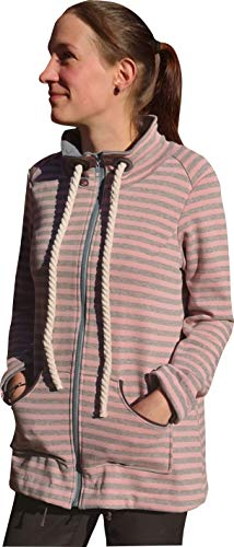 Mamadu Papier- Schnittmuster: Damen Sweatjacke/Weste (Sweatshirt, Jacke, Hoodie) mit Kragen und vielen Details für Frauen Gr. 36-54, selber Nähen Anfänger geeignet