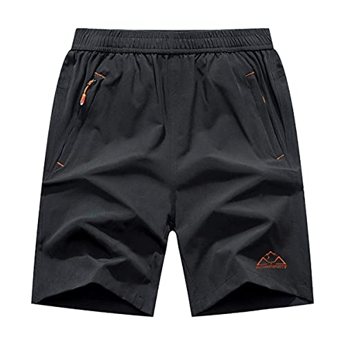 Gopune メンズ アウトドアパンツ 吸汗速乾ズボン スポーツ ランニング ズボン ファスナーポケット付き グレー M