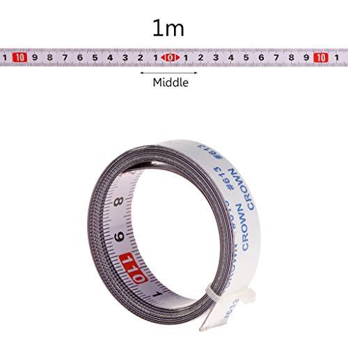 Mmnas,Selbstklebendes Maßband 1M /2M/ 3M /5M,13mm Breit,Rechts nach links, links nach rechts, mitte zu beiden seiten (mitte zu beiden seiten,1M)