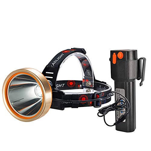 Headlamp,Brightest 6000 Lumen Flashlight searchlight ,Best 18000mAh Work Light,Rechargeable LED Headlamp,Hard hat Waterproof Spotlight ,Camping,Hiking,Mining,Outdoors Hunting