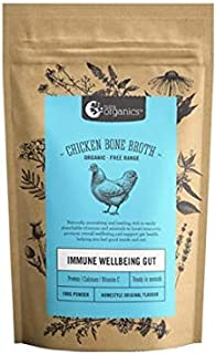 Organic Powdered Homestyle Chicken Bone Broth - Packed with Vitamins D, B and Zinc to support immunity - Gluten Free, Paleo and Keto friendly - 3.52 oz