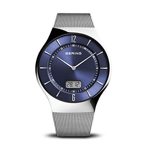 BERING Herren Analog Funk Collection Armbanduhr mit Edelstahl Armband und Saphirglas 51640-007