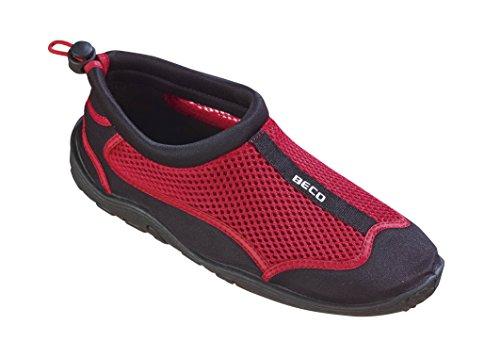 Beco Unisex Aquaschuhe Surfschuhe Stand Up Paddling Wattschuhe N EUe Kollektion Schuhe, Rot/Schwarz, 43 EU