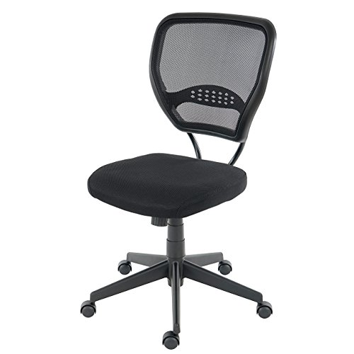 Mendler Profi-Bürostuhl Seattle, Chefsessel Drehstuhl, 150kg belastbar, Stoff/Textil - schwarz ohne Armlehnen