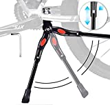 "alouweekuky Caballetes para Bicicletas - Soporte de Bicicleta de Aleación Ajustable MTB con pie de Goma Antideslizante, Soporte de pie de Aleación Universal para Bicicleta 24""- 28"" (Negro1)"