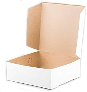Square White 1-Piece Cake Box 5.5-Inch High, 12x12 Inch, Pack of 100