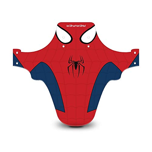Reaper Accessories Easy-fit Front Mountain Bike Mud Guard Cycle Cycling Fender - Fits 24', 26' & 27.5' - Spider (Spiderman)