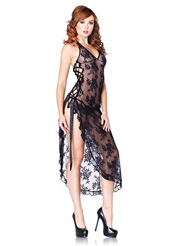 Leg Avenue 88009-2-delig. Neckholderlace lange jurk, eenheidsmaat