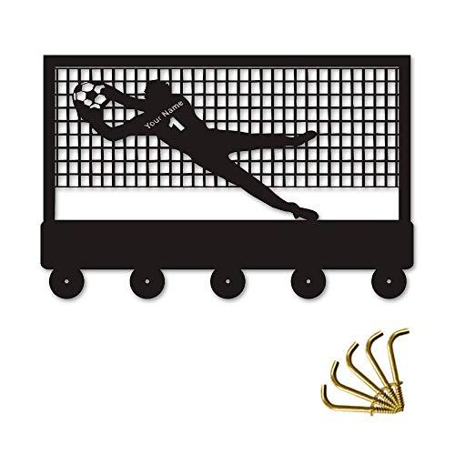 ZYL-YL 1 pieza de portero de fútbol IZE nombre de la capa gancho de la pared de la percha del deporte bolso de baño de la cocina titular de la llave del