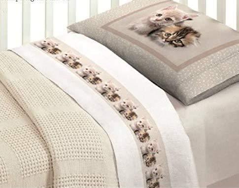 Idée cadeau Super offre : Parure de lit complète en impression numérique lit Chatons Baby ob bébé fille