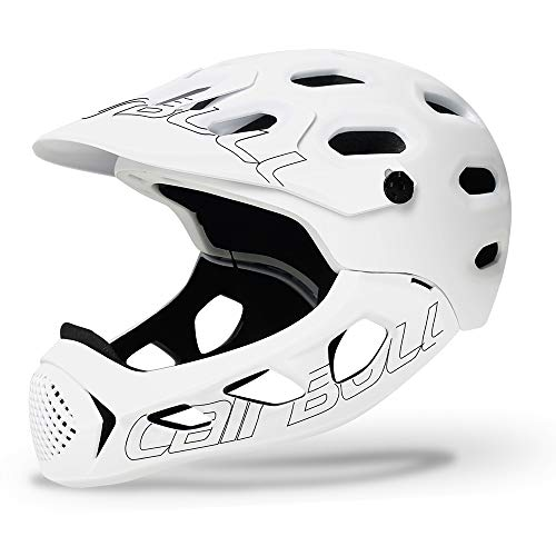 Leeworks BMX Mountain Bike Helmet Men Women Adults Allround Bicycle Helmet Cycle Helmet Bike Road Cross-Country Bicycle Full Face Helmet Extreme Sports Safety Cap Road Bike MTB Racing Cycling Helmet
