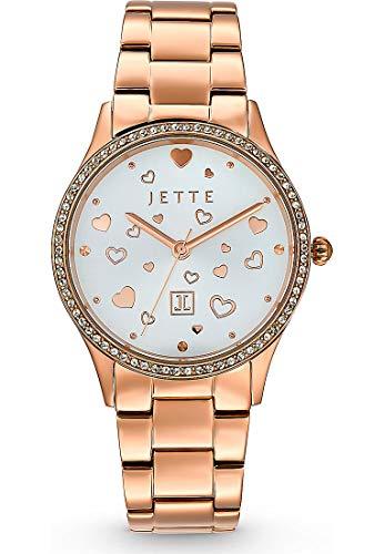 JETTE Damen-Uhren Analog Quarz One Size Roségold 32013686