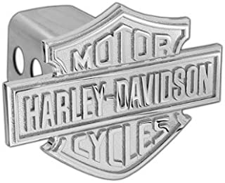 Harley-Davidson Trailer Hitch Cover Plug With 3D Monotone Bar & Shield (2 inch post)