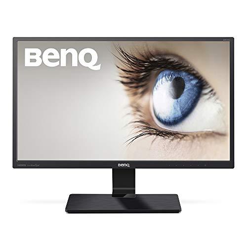 BenQ GW2470ML - Monitor para PC Desktop de 23.8  Full HD (1920x1080, VA, 16:9, HDMI, DVI, VGA, 4ms, altavoces, contraste nativo 3000:1, Eye-care, Flicker-free, Low Blue Light Plus), color negro