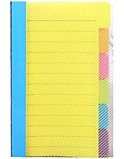 thorityau Klisterlappar set-post-it super klisterlappar – 10 x 15 cm självhäftande delare anteckningar anteckningsblock bokmärke skrivetikett – för vuxna och barn hem kontor skola användningar-6 blandade färger
