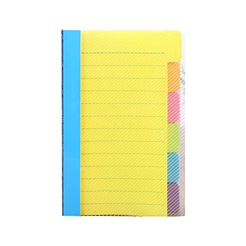 WOTEG Notas adhesivas separadoras, bloc de notas adhesivas rayadas, marcapáginas, 6 colores de neón surtidos, materiales ideales para la escuela y la oficina, 3,82 x 5,91 x 0,59 pulgadas.