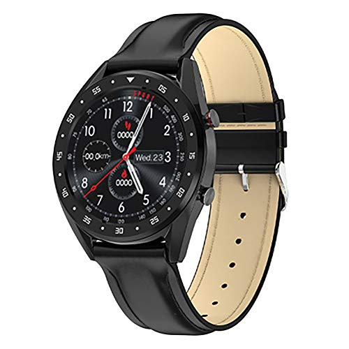Bluetooth Smart Watch, 1,3-Zoll-EKG + PPG HRV Hertz Rate Anzeige IP68 wasserdichte Intelligente Armband Kompatibel Android IOS-Digitaluhr,Schwarz