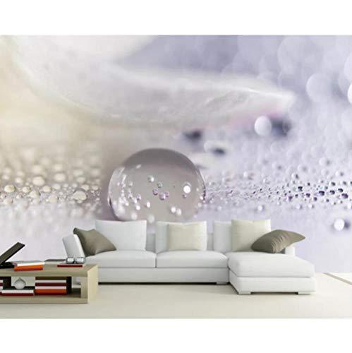Pbbzl fotobehang voor 3D-afbeeldingen, motief: waterdruppels, microscoop, microscoop 250x175cm