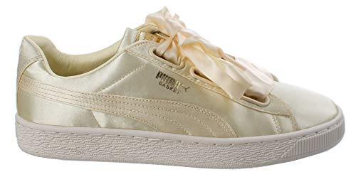 PUMA Basket, scarpe da ginnastica da donna, in raso, colore giallo e oro bianco, Donna, 365662 02, Trasparente giallo oro Whisp White, 40.5 EU