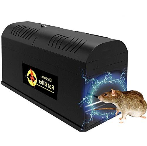 QYWSJ Trampa para Ratones Profesional, Asesino Electrónico para Trampas de Ratas, Trampa para Ratas Asesina Ratones Eléctrica Segura No Tóxica Alto Voltaje,Deshacerse Ratones, Roedores