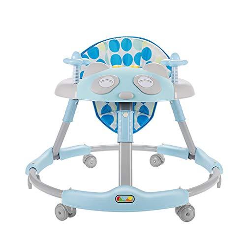 LFY Antivolcadura Multifuncional Walker para bebés, Altura de cojín 4 Ajustable Andador para bebés