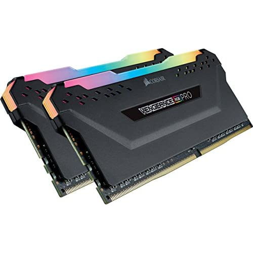 Corsair Vengeance RGB PRO 16 GB (2x8 GB) DDR4 3000MHz C15 XMP 2.0 Kit di Memoria Illuminato RGB LED Entusiasta, Nero