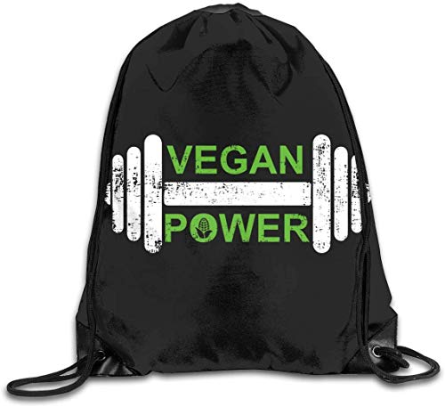 Men's and Women's Drawstring Backpack Bag Vegan Power Sports Gym Bag String Backpack Hiking Sackpack Travel Daypack