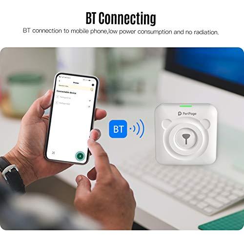 Aibecy PeriPage Mini Fotodrucker Wireless BT Thermodrucker Picture Label Memo Receipt Drucker mit USB-Kabel für Android iOS Smartphone Windows (Gelb)