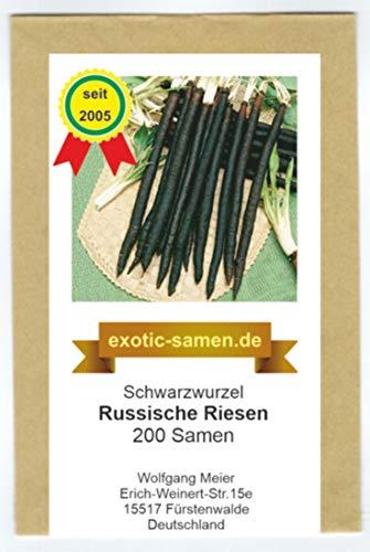 Schwarzwurzel - alte, sameneche Sorte - Russische Riesen - 200 Samen