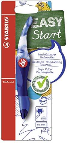 Ergonomischer Tintenroller für Rechtshänder - STABILO EASYoriginal Marbled Colors Edition in saphir - Schreibfarbe blau (löschbar) - inklusive Patrone