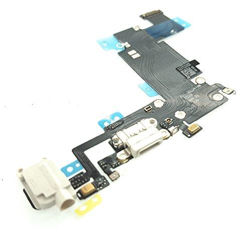 enoaFIX dock connector compatibel met iPhone 6S Plus oplaadaansluiting audio jack flexkabel antenne microfoon Lightning aansluiting hoofdtelefoon wit