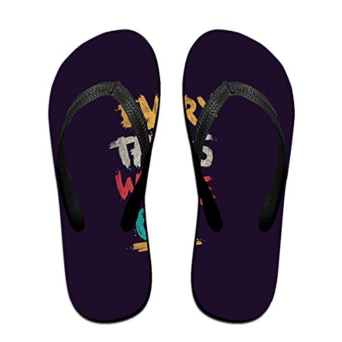 SummerTllo Best Saying Mens Womens Sandals Flip Flops Thong Sandals Black