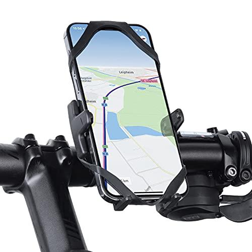 Wicked Chili Universal Fahrrad Handyhalterung kompatibel mit Xiaomi Mi 11, Samsung Galaxy 20 FE, iPhone 12 Pro & Smartphone mit max. 76mm Breite - Slim Bike Mount - Made in Germany