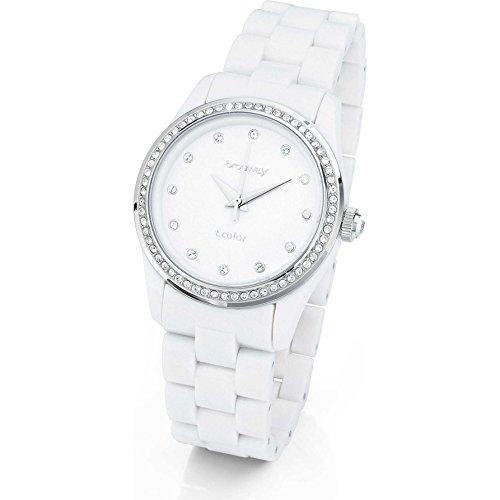 Brosway Orologio Donna in Acciaio Bianco, forma Rotondo, linea True Color, peso 30 grammi