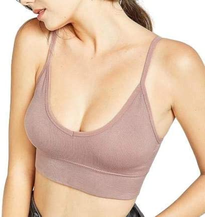Davina Fashions Women's Cotton Blend Padded Non-Wired Push-up Bra Free Size (26 to 34 Bust-Size) (Removable Pad)