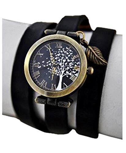 Bezaubernde Damen-Armbanduhr mit Schmetterlingsbaum