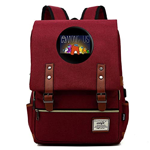 Among Us Casual Backpack Among Us Game 3D Printing Schoolbag Portable Fashion Pocket Bag for Students and Teenagers Kindergarten School Bag
