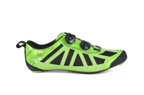 Spiuk Pragma Triathlon, Zapatillas de Ciclismo Unisex Adulto, Verde/Negro, 42 EU