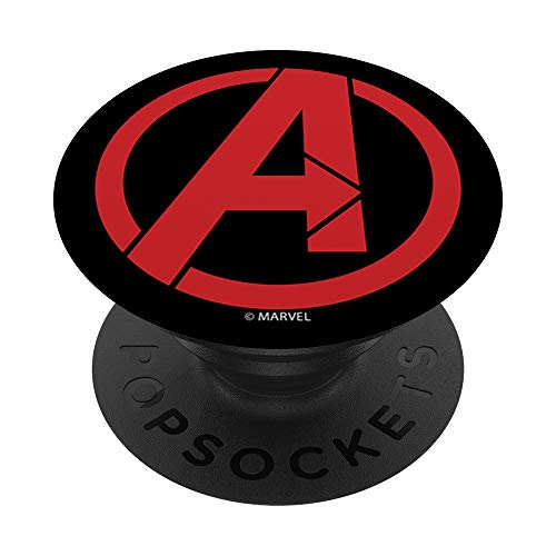 Marvel Avengers Red Logo PopSockets PopGrip: Agarre intercambiable para Teléfonos y Tabletas