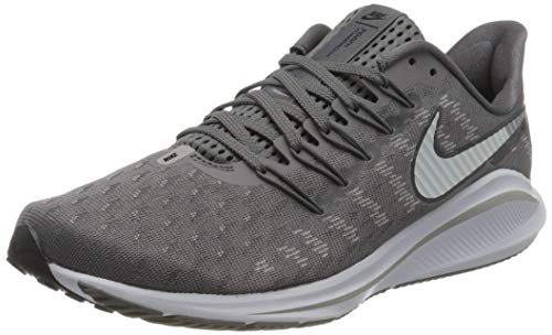 Nike Air Zoom Vomero 14, Running Shoe Hombre, Gunsmoke/White-Oil Grey-Atmosphere Grey, 42.5 EU