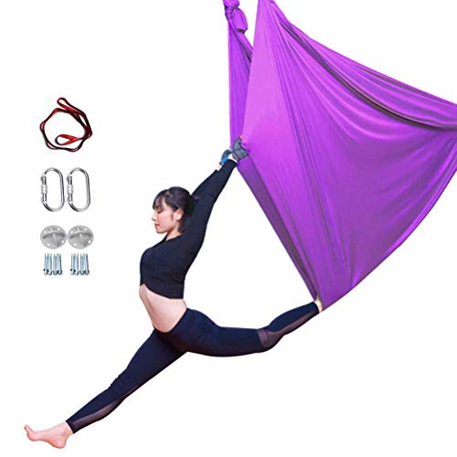 YANGJUNXI Yoga antigravedad Hamaca Correa Volar para Yoga Pilates aérea la Hamaca de Yoga Pilates el Columpio de Yoga el Equipo de la Danza aérea,Carga 450kg-4m