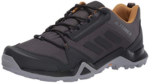 adidas mens Terrex Ax3 Hiking Shoe, Grey/Black/Mesa, 9.5 US