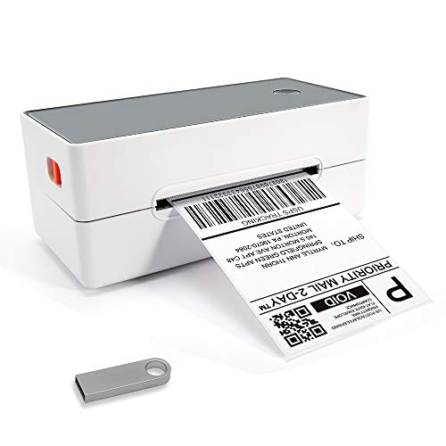 4x6 Thermal Shipping Label Printer - Commercial Grade Direct Thermal High Speed Printer- Compatible w/Amazon, eBay, Etsy, Stamps.com etc. 4×6 Label Printer & Multifunctional Printing for Windows & Mac